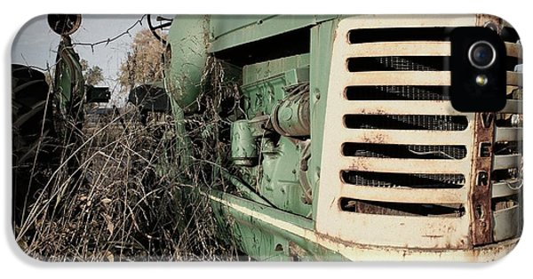 Oliver Tractor iPhone 5 Case - Out To Pasture by Betty Northcutt