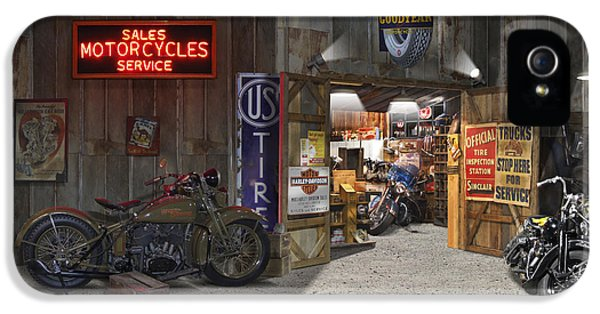 Outside The Motorcycle Shop IPhone 5 Case