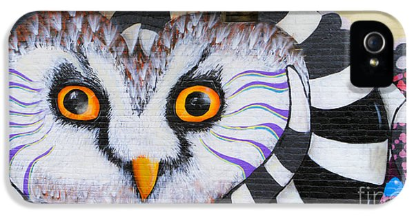 IPhone 5 Case featuring the photograph Owl Mural by Ricky L Jones