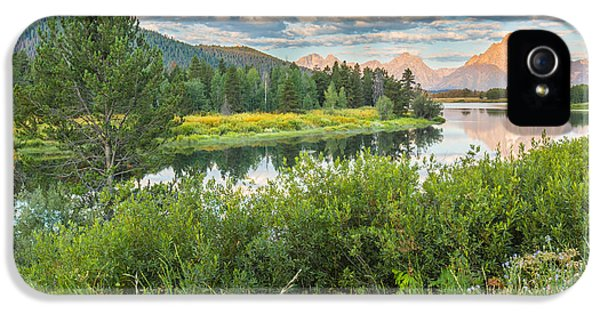 Oxbow Bend Summer Sunrise - Grand Teton National Park IPhone 5 Case by Andres Leon