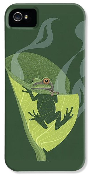 Pacific Tree Frog In Skunk Cabbage IPhone 5 / 5s Case by Nathan Marcy