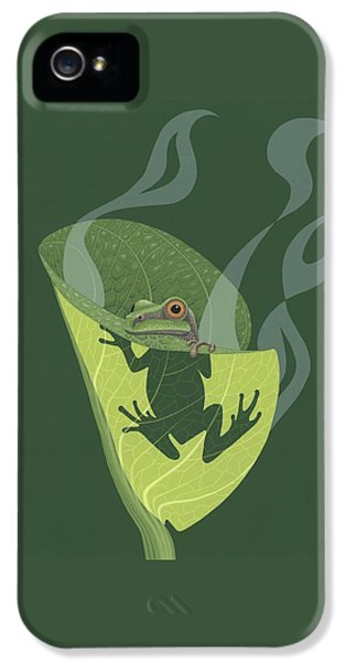 Pacific Tree Frog In Skunk Cabbage IPhone 5 Case