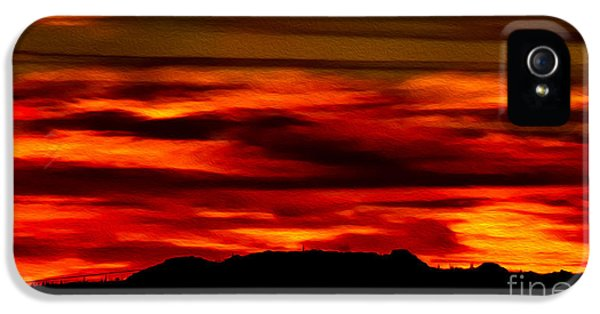 IPhone 5 Case featuring the photograph Painted Sky 34 by Mark Myhaver