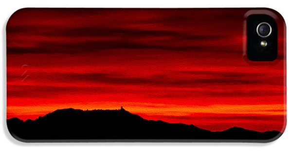 IPhone 5 Case featuring the photograph Painted Sky 36 by Mark Myhaver
