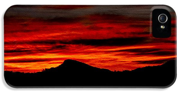 IPhone 5 Case featuring the photograph Painted Sky 45 by Mark Myhaver