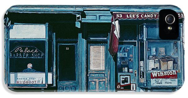 Palace Barber Shop And Lees Candy Store IPhone 5 Case by Anthony Butera