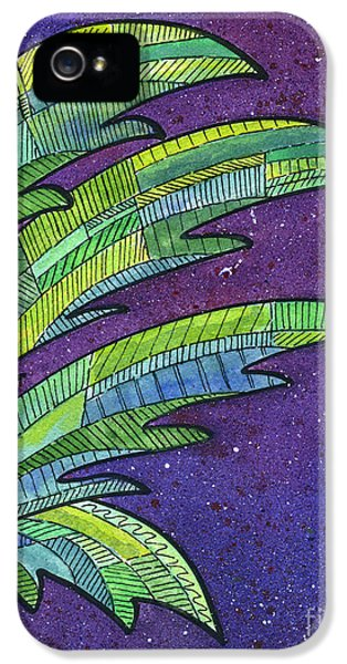Palms Against The Night Sky IPhone 5 Case by Diane Thornton