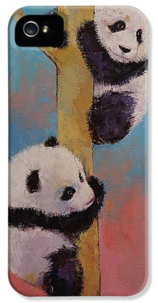 Panda Fun IPhone 5 Case by Michael Creese