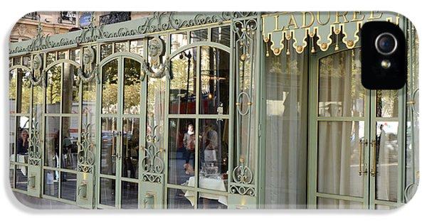 Paris Dreamy Laduree Patisserie And Tea Shop - Paris Laduree Doors And Architecture Fine Art IPhone 5 Case by Kathy Fornal