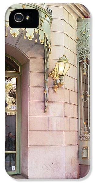 Paris Laduree Patisserie And Tea Shop - Paris Laduree Macaron Tea Shop Decor Prints IPhone 5 Case by Kathy Fornal