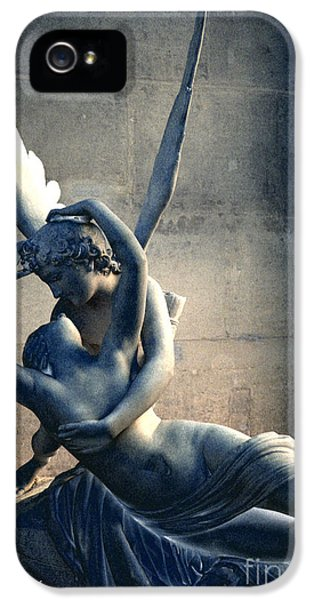 Paris Eros And Psyche Romantic Lovers - Paris In Love Eros And Psyche Louvre Sculpture  IPhone 5 / 5s Case by Kathy Fornal