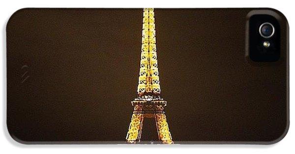 #paris #france #night #lights IPhone 5 Case