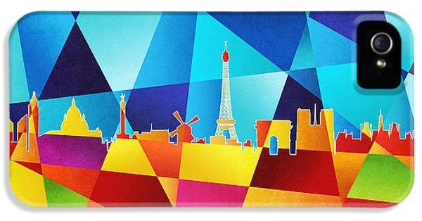 Eiffel Tower iPhone 5 Case - Paris France Skyline by Michael Tompsett