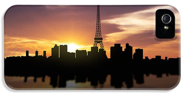 Paris France Sunset Skyline  IPhone 5 / 5s Case by Aged Pixel