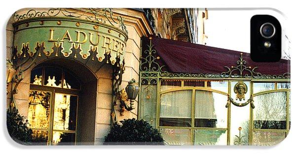 Paris Laduree Macaron French Bakery Patisserie Tea Shop - Champs Elysees - The Laduree Patisserie IPhone 5 Case by Kathy Fornal