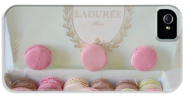Paris Laduree Pastel Macarons - Paris Laduree Box - Paris Dreamy Pink Macarons - Laduree Macarons IPhone 5 Case by Kathy Fornal