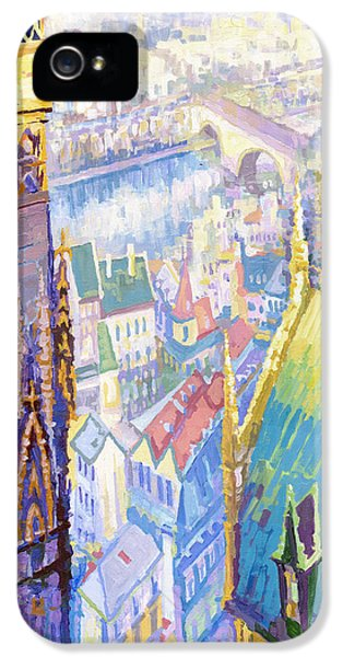 Paris Shadow Notre Dame De Paris IPhone 5 Case by Yuriy  Shevchuk
