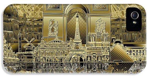 Paris Skyline Landmarks 4 IPhone 5 Case
