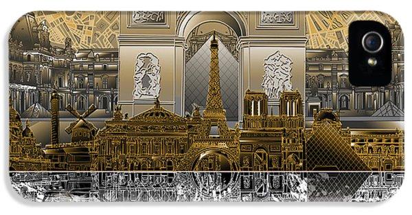 Paris Skyline Landmarks 5 IPhone 5 Case