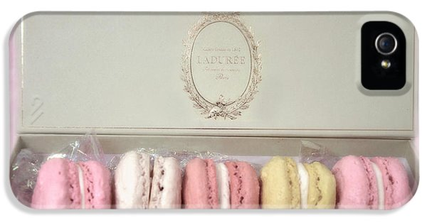 Paris Macarons Laduree Tea Shop Patisserie - Dreamy Laduree Box Of French Macarons - Paris Macarons IPhone 5 Case by Kathy Fornal