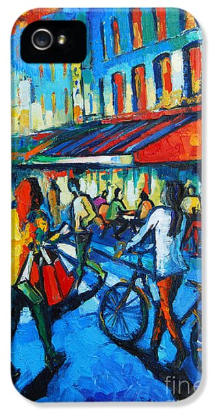 Parisian Cafe IPhone 5 Case by Mona Edulesco