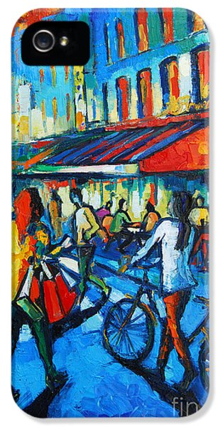 Parisian Cafe IPhone 5 / 5s Case by Mona Edulesco