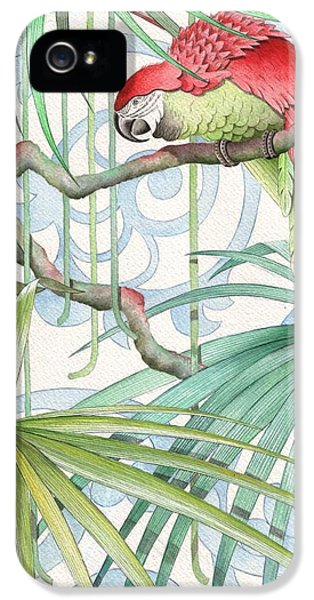 Macaw iPhone 5 Case - Parrot, 2008 by Jenny Barnard