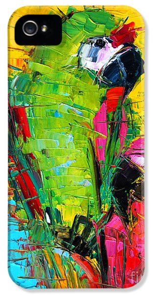 Parrot iPhone 5 Case - Parrot Lovers by Mona Edulesco