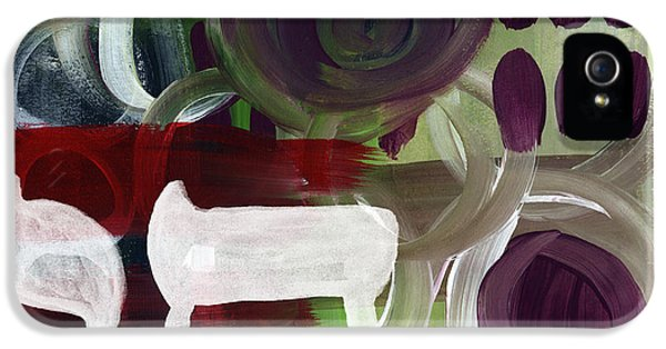 Passages- Abstract Painting IPhone 5 Case by Linda Woods