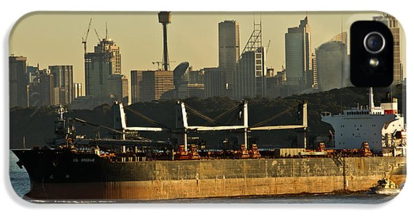IPhone 5 Case featuring the photograph Passing Sydney In The Sunset by Miroslava Jurcik