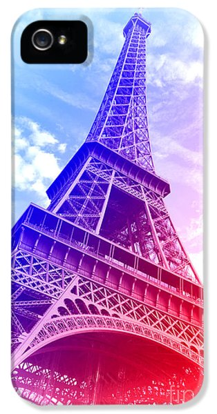 Patriotic Eiffel Tower IPhone 5 Case by Olivier Le Queinec