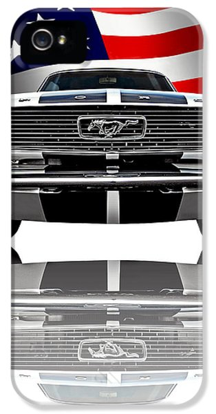 Patriotic Ford Mustang 1966 IPhone 5 Case