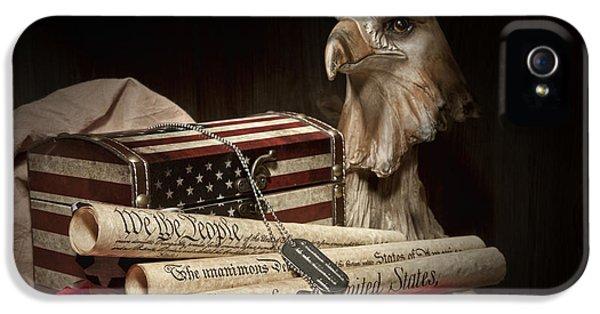 Eagle iPhone 5 Case - Patriotism by Tom Mc Nemar
