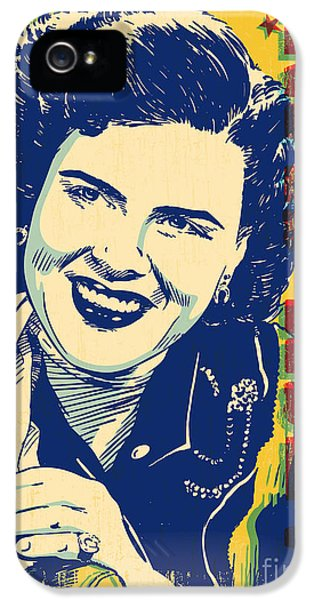 Johnny Cash iPhone 5 Case - Patsy Cline Pop Art by Jim Zahniser