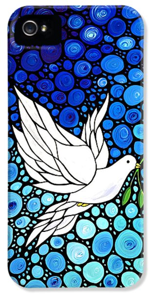Peaceful Journey - White Dove Peace Art IPhone 5 Case by Sharon Cummings