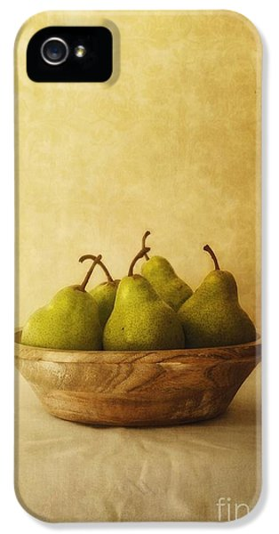 Pears In A Wooden Bowl IPhone 5 Case by Priska Wettstein