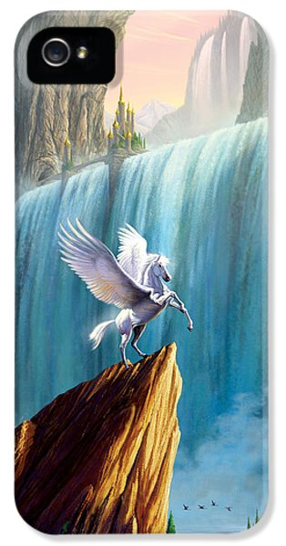 Pegasus Kingdom IPhone 5 Case by Garry Walton