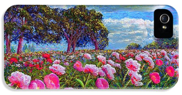 Impressionism iPhone 5 Case - Peony Heaven by Jane Small