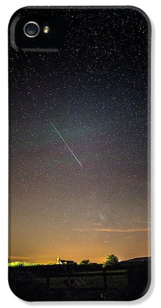 Perseid Meteor Trail 2015 IPhone 5 Case by Chris Madeley