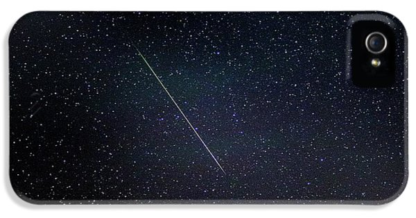 Perseid Meteor Trail IPhone 5 Case by Chris Madeley
