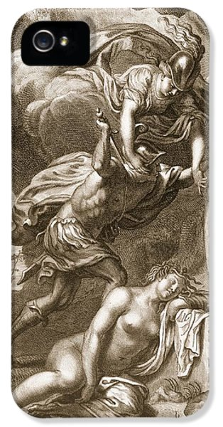 Perseus Cuts Off Medusas Head, 1731 IPhone 5 Case by Bernard Picart