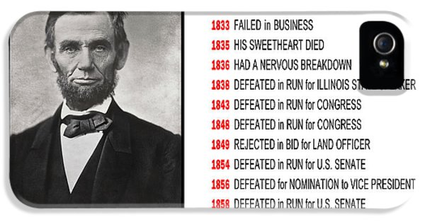 Perseverance Of Abraham Lincoln IPhone 5 Case by Daniel Hagerman
