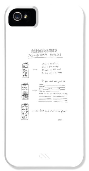 Personalized Tax-return Mailers IPhone 5 Case by Roz Chast