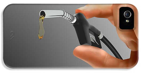 Persons Hand Holding Tiny Gas Pump IPhone 5 Case by Panoramic Images