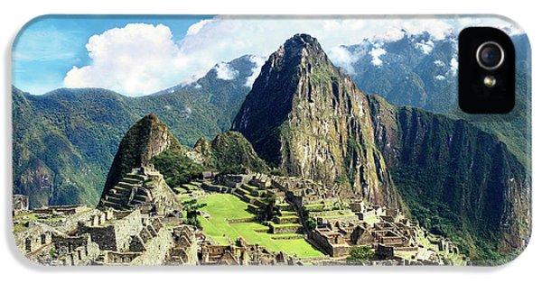 Llama iPhone 5 Case - Peru, Machu Picchu, The Lost City by Miva Stock