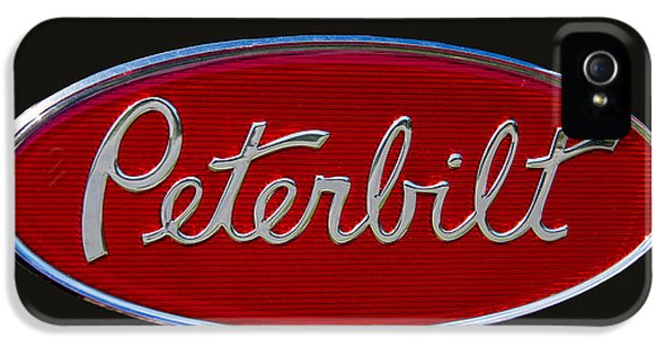 Truck iPhone 5 Case - Peterbilt Semi Truck Emblem by Nick Gray