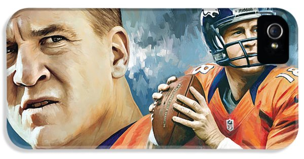 Peyton Manning Artwork IPhone 5 / 5s Case by Sheraz A