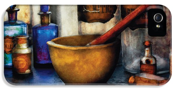 Wizard iPhone 5 Case - Pharmacist - Mortar And Pestle by Mike Savad
