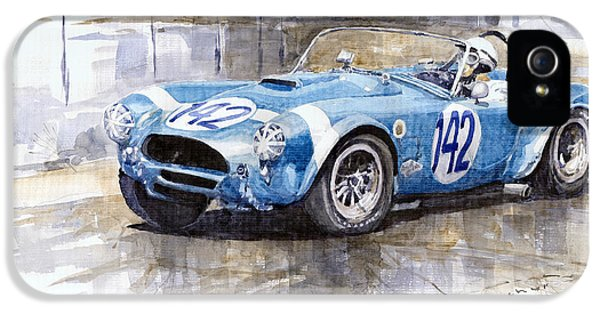 Phil Hill Ac Cobra-ford Targa Florio 1964 IPhone 5 / 5s Case by Yuriy Shevchuk
