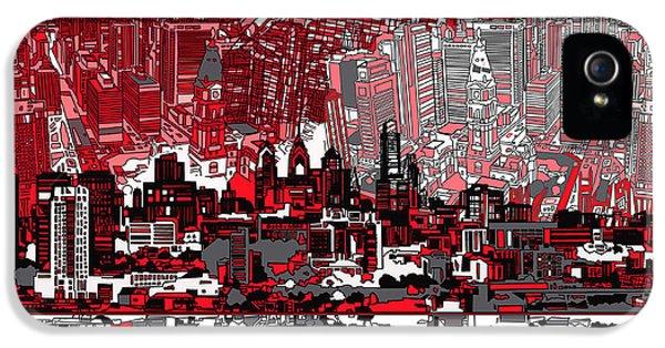 Philadelphia Skyline Abstract 4 IPhone 5 Case